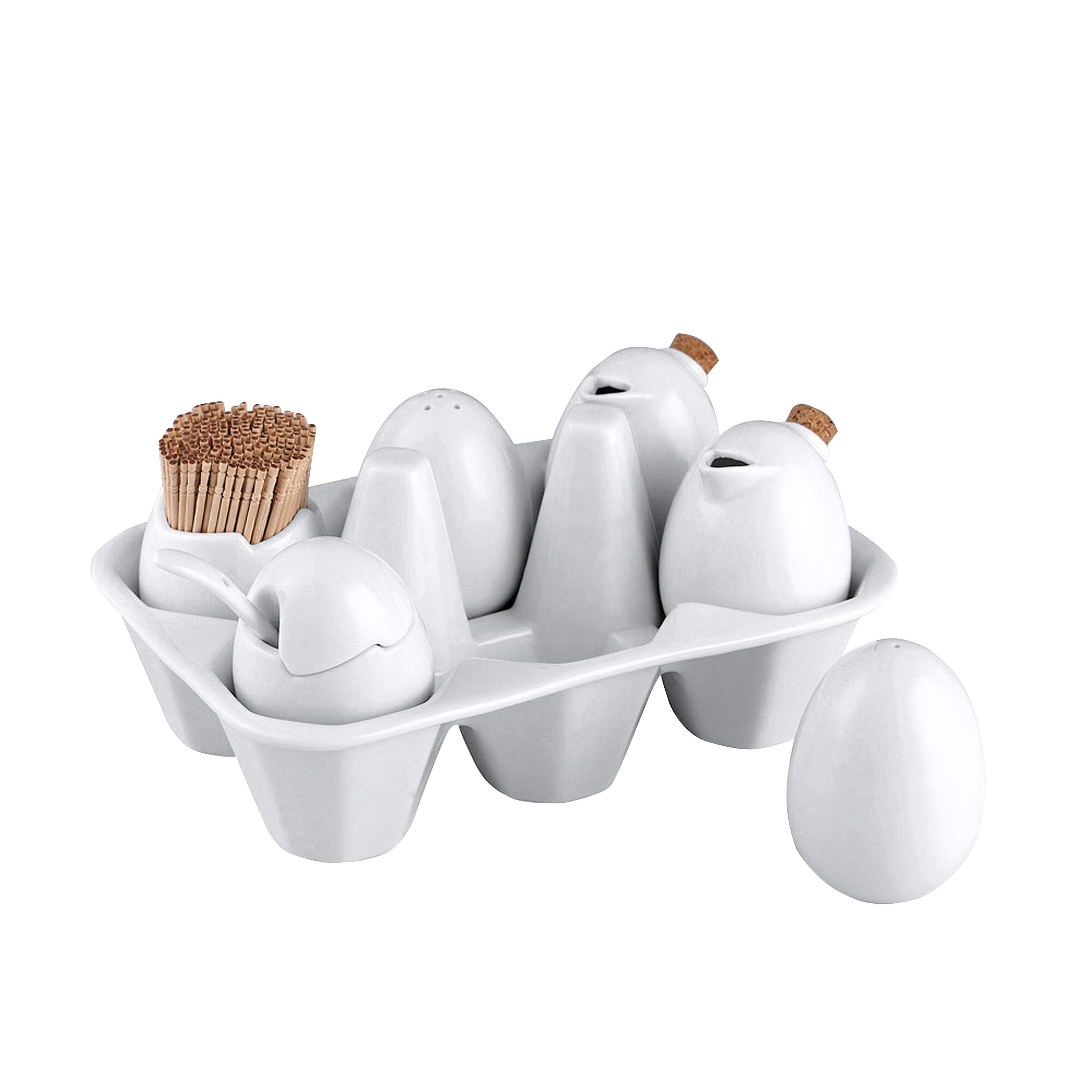 110580 egg crate condiments set dwell for Cheap quirky homeware