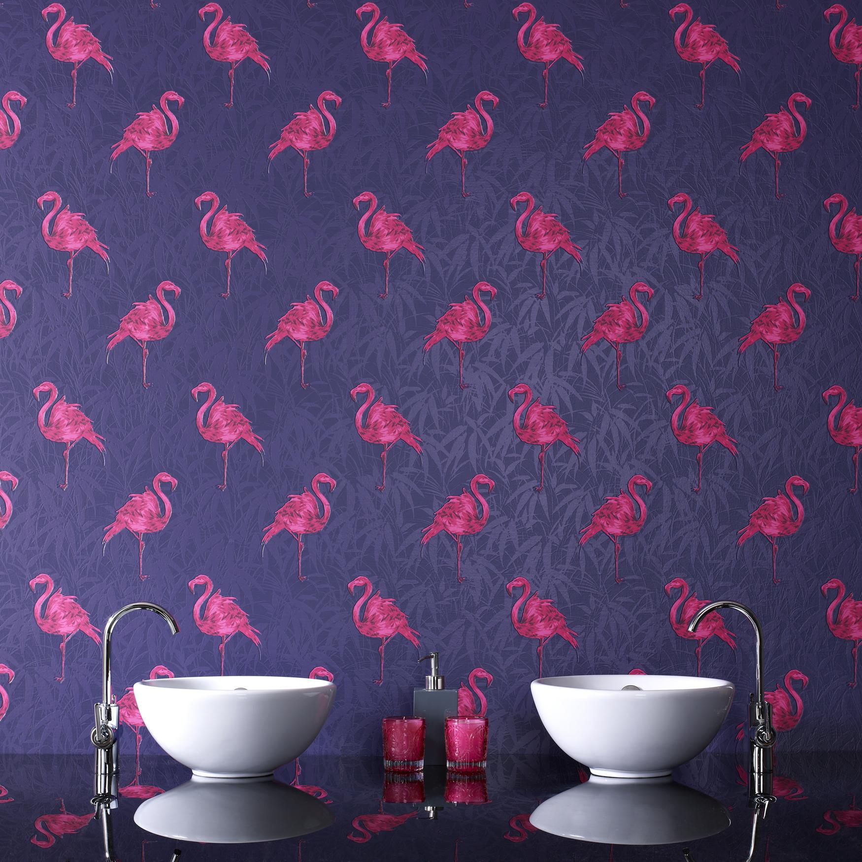 Flamingo Wallpaper The Treasure Hunter Well Designed Quirky And Fun Inte