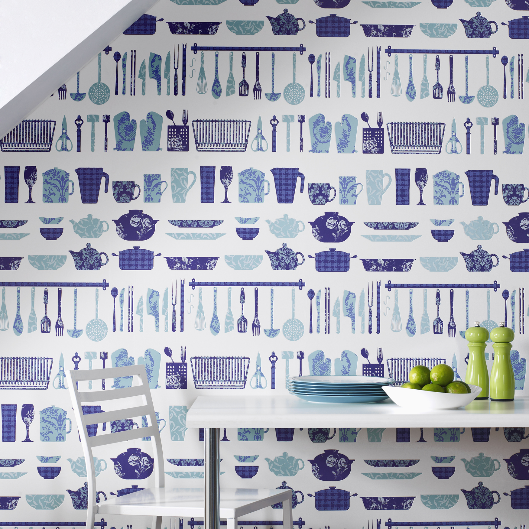 Kitchen wallpaper the treasure hunter well designed for Kitchen wallpaper uk
