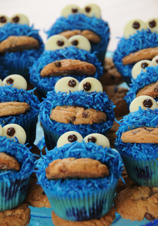 cookie monster cupcakes | The Treasure Hunter - well-designed, quirky ...