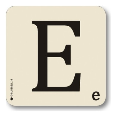 Alphabet coasters scrabble style theletteroom.com letter E