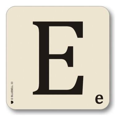 Alphabet coasters scrabble style theletteroom.com letter E