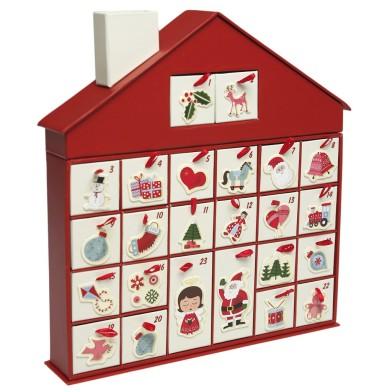 Dotcomgiftshop sale 50s advent calendar house £6.95 was £18.95