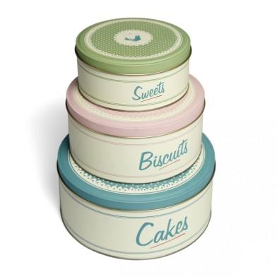Dotcomgiftshop sale set of pantry design cake tins £4.95 was £12.95