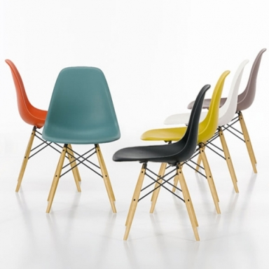 Eames DSW chairs various colours