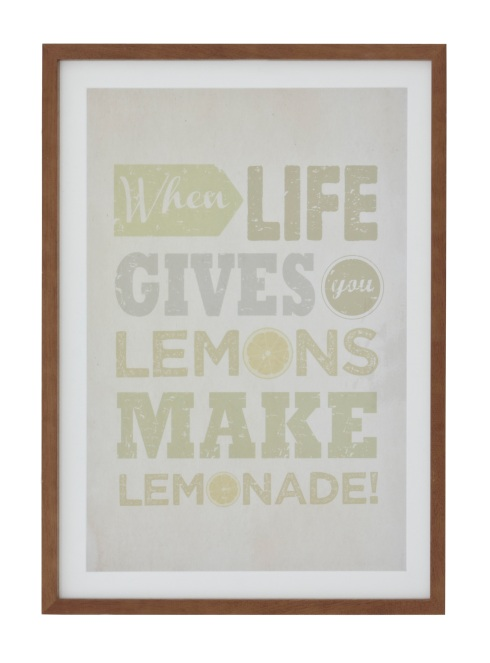 Lemonade framed  print £40 Next