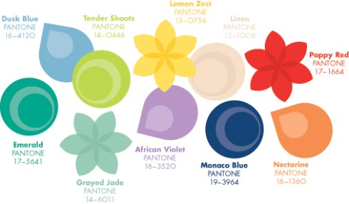 Pantone Spring colour predictions 2013