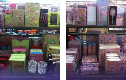 Paperchase sky lanterns collection display