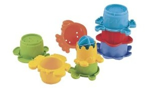 Presents for first birthdays ELC bath stacking cups