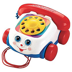 Presents for first birthdays Fisher Price telephone chatter phone