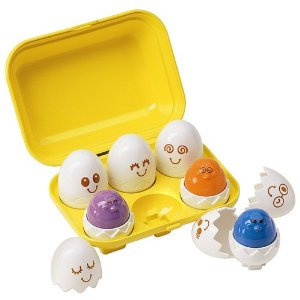 Presents for first birthdays Tomy hide n squeak eggs