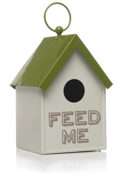 0330772 - Wilko Sustain Get Outdoors Bird House Metal Cream-Green - £8