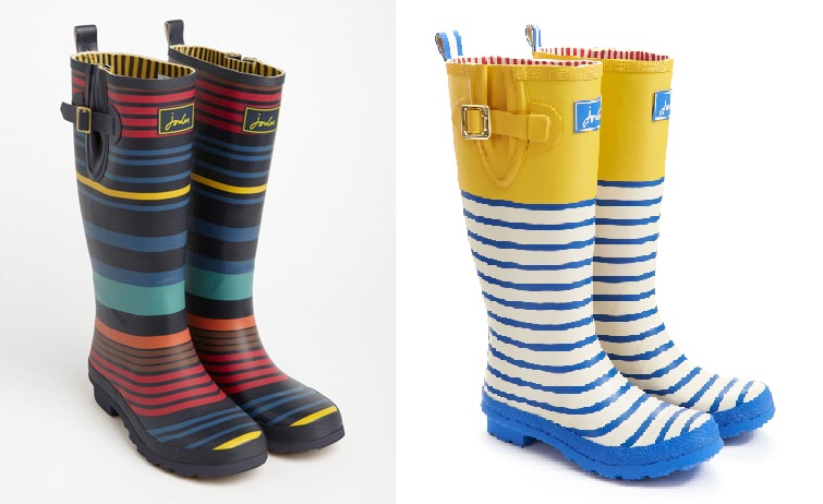 Striped wellies the treasure hunter well designed for Cool homeware uk