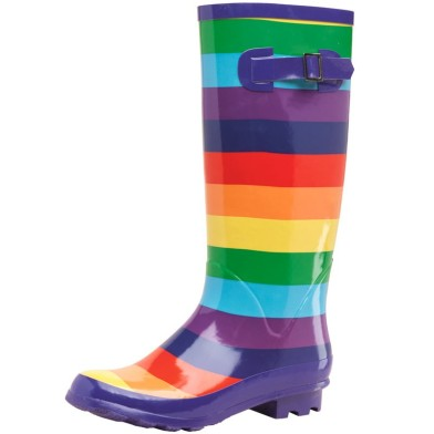 Wellies rainbow stripe mandmdirect £16.99