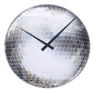 CLOCKS (METALLIC) Nextime Disco Clock £29 redcandy.co.uk