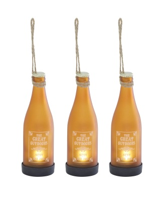 GARDENS - LIGHTING Set of 3 solar bottle lights £16 Next