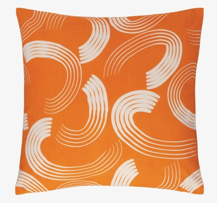 Habitat orange comb cushion £12 try2