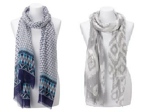 Lightweight fish scales geometric border scarf £15 M&S
