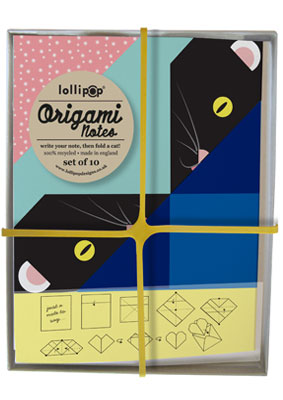 Lollipop designs cat note cards set