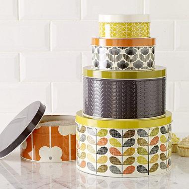 Orla Kiely cake tins set of 5 £35 John Lewis