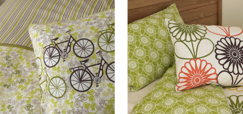 Wilkon duvets flowers and bikes