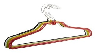 Matalan 6-pack-multicoloured-metal-coat-hangers £3.50