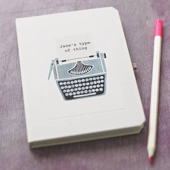 original_personalised-typewriter-notebook £9 notonthehighstreet