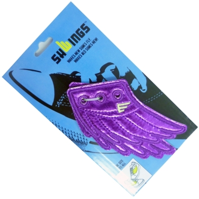 Purple shwings in packaging