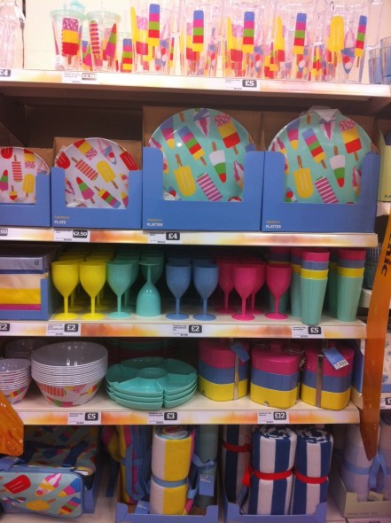 Sainsburys picnic ware ice lollies full range on shelves