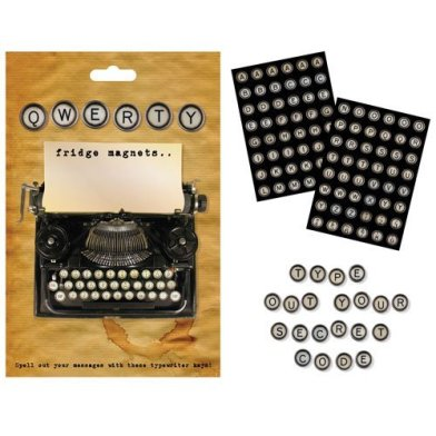 Typewriter keys magnets £8.99 www.amazon.co.uk