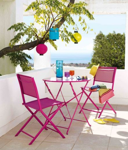 GARDENS - BISTRO SET Blooma Saba Bistro table £59 and folding chair £15 each B&Q