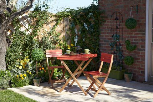 GARDENS - BISTRO SET Retro Orange Bistro Set £80 Wilkinson