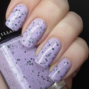 Illamasqua nail varnish in speckle on nails