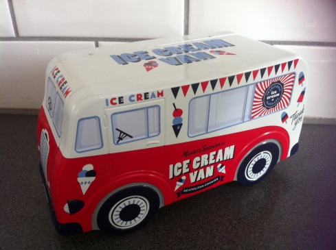 Marks and Spencer ice cream van biscuit tin