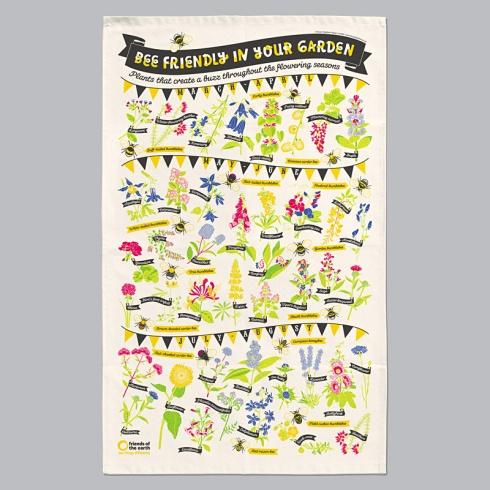 Stuart Gardiner tea towel Bee Friendly