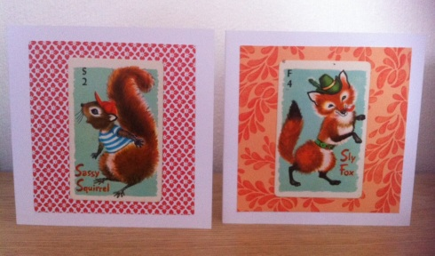 Vintage playing cards turned into greetings cards 1