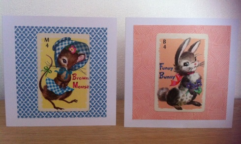 Vintage playing cards turned into greetings cards 2