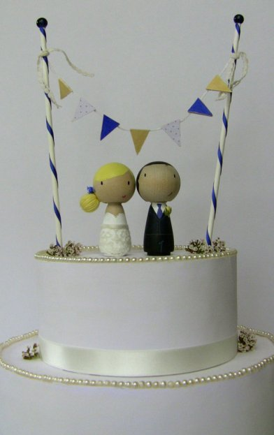 Cake topper bride and groom personalised