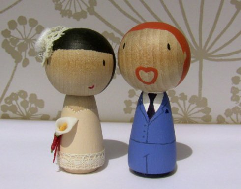 Cake topper personalised bride and groom