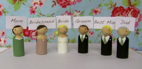 Cake toppers personalised name holders