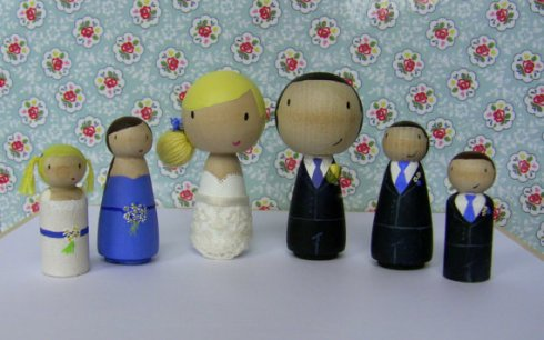 Cake toppers personalised wedding party