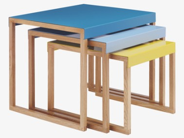 Habitat kilo table £70 blues and mustard
