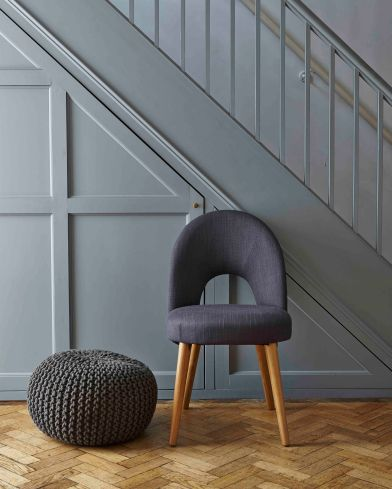 Dunelm Mill grey pouffe £49.99
