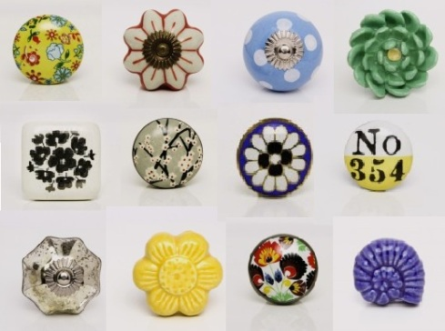 yellow floral knob