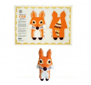 culturelabel sew your own fox_tea_towel £12.50