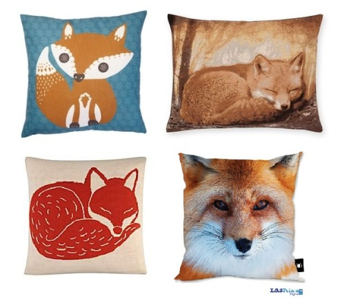 Isme.co.uk fox accent cushion £12