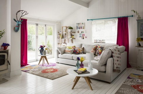 Marks and Spencer boho living room