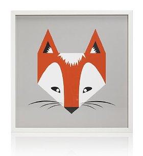 M&S Fox frame art £25