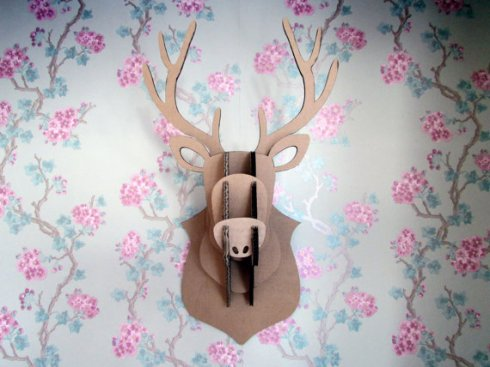 Oh Bother Designs cardboard stag head £15