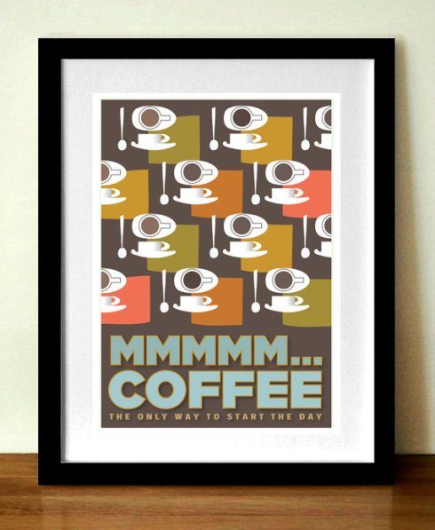 Visual Philosophy mid century modern coffee print etsy